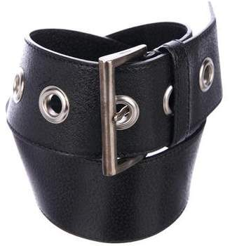Prada Wide Leather Belt