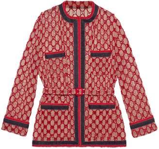 Gucci GG macramé oversized jacket