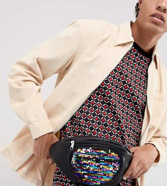 Reclaimed Vintage inspired festival sequin fanny pack