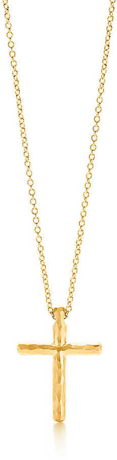 Paloma Picasso Hammered Cross Pendant