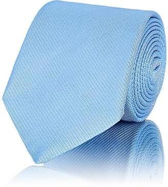 Barneys New York Men's Textured Silk Necktie - Lt. Blue