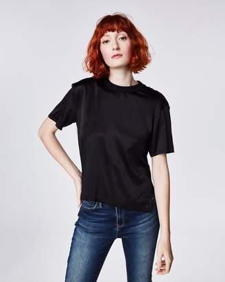 Nicole Miller Stretch Charmeuse Combo Tee