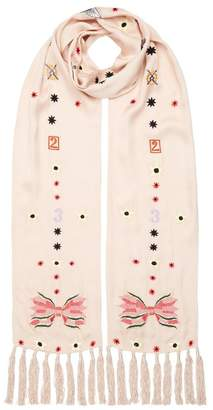 Temperley London Kite Embroidered Dinner Scarf