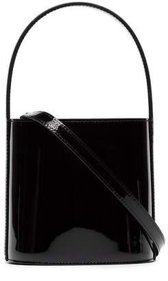 Staud black Bisset patent leather bucket bag