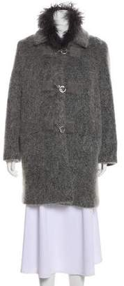 Courreges Short Bouclé Coat