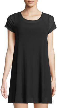 Love, Fire Mini Mesh Illusion T-Shirt Dress
