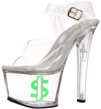 Pleaser USA Women's Tipjar-708-8/C/LG Platform Sandal