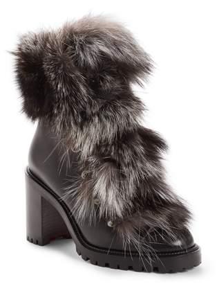 Christian Louboutin Fanny Genuine Fox Fur Boot