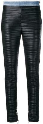 Balmain pleated stretch-fit leggings