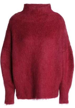 Agnona Felt Wool-Blend Turtleneck Sweater