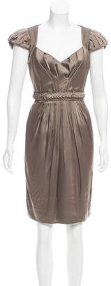 Andrew Gn Pleated Knee-Length Dress w/ Tags