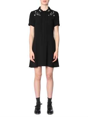 McQ Diamante Deco Swallow Mini Dress