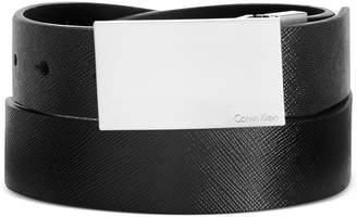 Calvin Klein Men's Big and Tall Saffiano Leather Reversible Dress Belt
