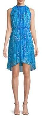 Elie Tahari Abertha Silk Fit-&-Flare Dress