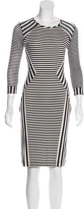 Diane von Furstenberg Haven Striped Knee-Length Dress