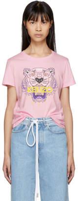 Kenzo Pink Tiger Logo T-Shirt