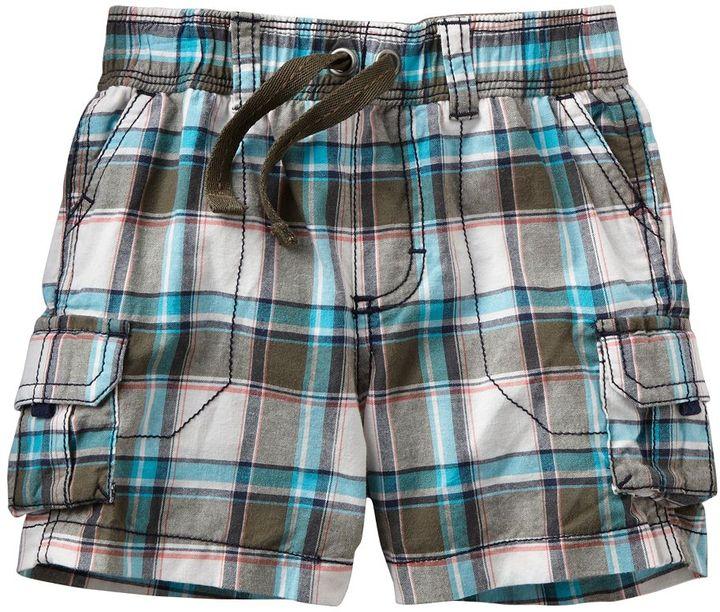 Carter's plaid cargo shorts - baby