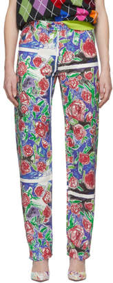 Charles Jeffrey Loverboy White Straight Leg Jeans