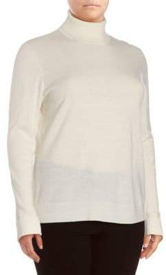Lafayette 148 New York Turtleneck Wool Sweater