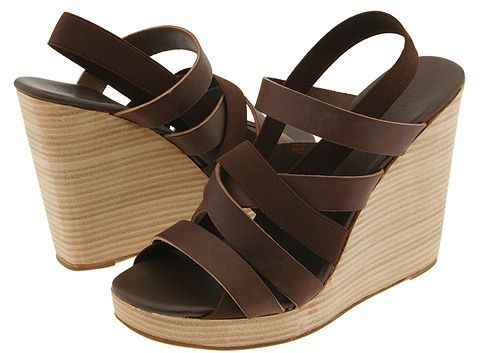 DKNY - Bailey-strappy Wedge (Brown W/ Tan)