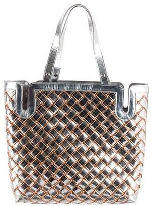 Chanel Metallic Basket Weave Tote