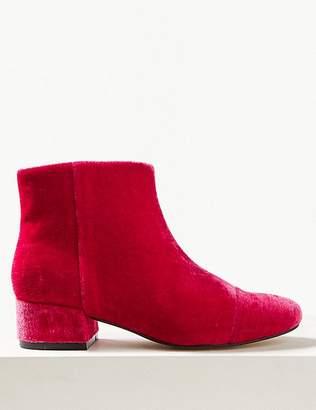 Marks and Spencer Velvet Ankle Boots