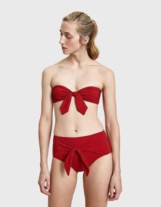 Roxana Salehoun Tie Front Bottom in Red