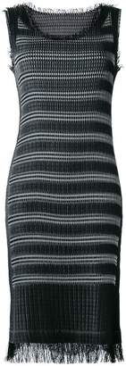 Issey Miyake fringed fitted dress
