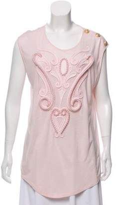 Balmain Sleeveless Embellished Top