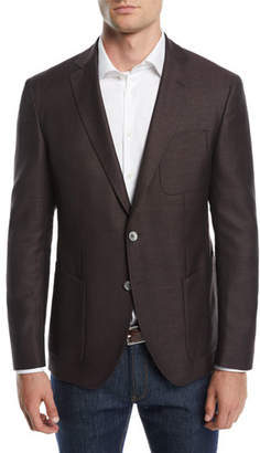 BOSS Men's Patch-Pocket Two-Button Jacket