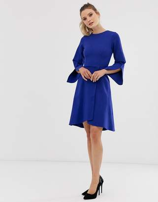 Closet London Closet long sleeve wrap dress