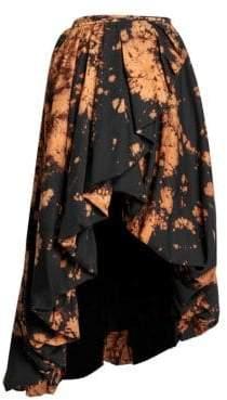 Marques Almeida Marques'Almeida Bleach Print High-Low Skirt
