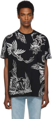 Givenchy Black Icarus Regular Fit T-Shirt