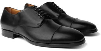 HUGO BOSS Traveler Cap-Toe Leather Derby Shoes