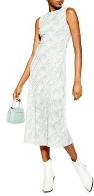 Topshop Tie Dye Sleeveless Midi Dress