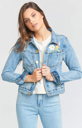 Show Me Your Mumu Girlfriend Jacket ~ Light Vintage Wash