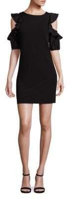N°21 Cold-Shoulder Ruffle Sleeve Dress