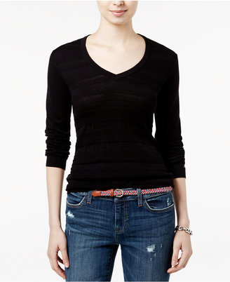 Tommy Hilfiger Ivy V-Neck Sweater, Only at Macy's $59.50 thestylecure.com