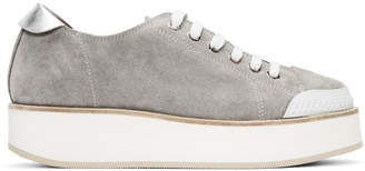 Flamingos SSENSE Exclusive Grey Tatum Suede Sneakers