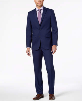 Van Heusen Men's Slim-Fit Stretch Bright Navy Solid Suit
