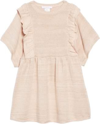 Chloé Metallic Knit Ruffle Dress