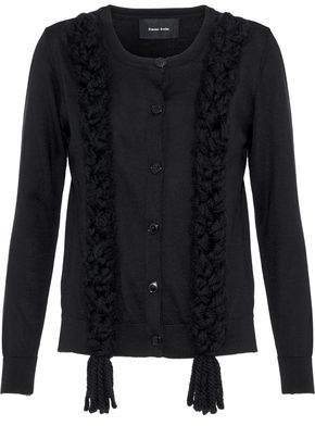 Simone Rocha Braided Merino Wool Silk And Cashmere-Blend Cardigan