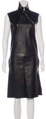 Celine Leather Midi Dress