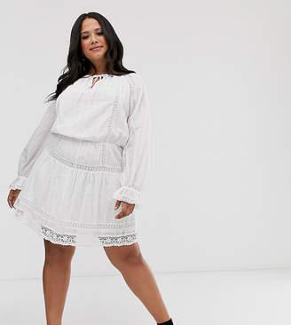 Plus Size White Skater Dress - ShopStyle UK