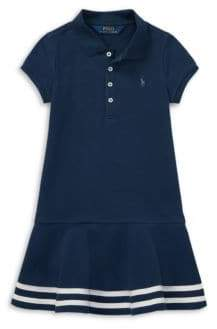 Ralph Lauren Little Girl's& Girl's Stretch Polo Dress