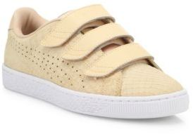 PUMA Basket Grip-Tape Suede Sneakers $90 thestylecure.com