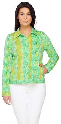 Isaac Mizrahi Live! Colorful Snake Printed Knit Jacket