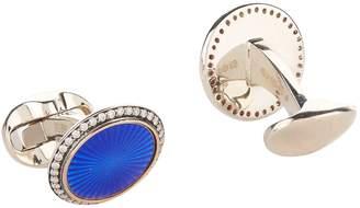 Deakin & Francis White Gold Diamond Cufflinks