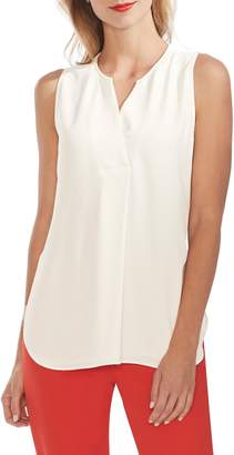 Vince Camuto Split Neck Sleeveless Top