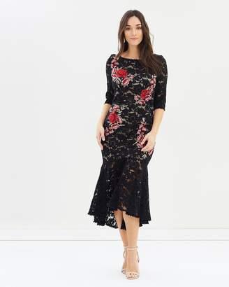 Carmen Lace Fit & Flare Dress